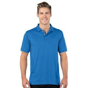 Tri-Mountain Gold Men's Luxe Ultra Soft Double-Peached Polo