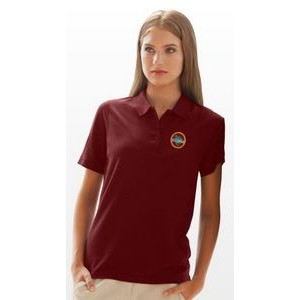 Women's Soft-Blend Double-Tuck Pique Polo Shirt