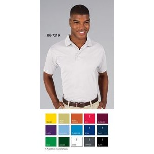 Men's Moisture Wicking Short Sleeve Polo Shirt