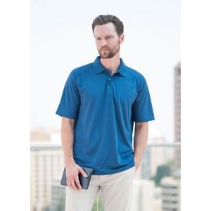 Men's Palmetto Saddle Shoulder Pique Polo Shirt